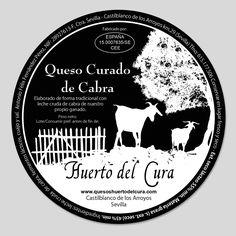 Diseño Etiqueta.  www.p11studio.com  Quesos Huerta del Cura.  Castilblanco de los Arroyos.  Sevilla.