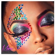 http://www.beadshop.com.br/?utm_source=pinterest&utm_medium=pint&partner=pin13 maquiagem para carnaval com strass Makeup for carnival