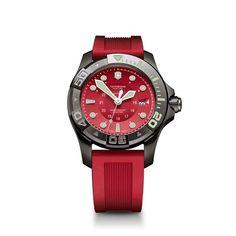 Victorinox 241577 - Reloj para hombres, correa de goma color rojo