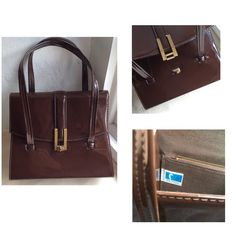 "Coolclobber has a great selection of vintage handbags, including this new addition, a Freedex brown patent pvc from the 60s/70s. ""Freedex puts fashion in your hand"""