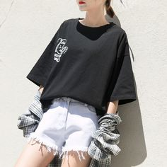Korea Fashion, Asian Fashion, Girl Fashion, Fashion Outfits, Sport Outfits, Cool Outfits, Summer Outfits, Aesthetic Fashion, Aesthetic Clothes