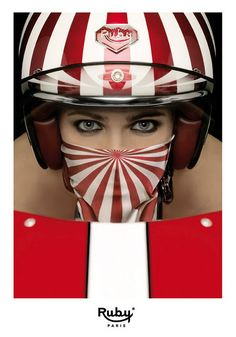 Les Ateliers Ruby // Pavillon Helmet and scarf (shinning).  I will own this helmet and scarf one day (hopefully soon).