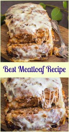 Best Meatloaf, the only meatloaf recipe you need. So delicious, tasty & cheesy. perfect out of the oven or sliced cold in sandwiches. Meatloaf Recipe With Cheese, Cheese Stuffed Meatloaf, Meat Loaf Recipe Easy, Meatloaf Recipes, Beef Recipes, Cooking Recipes, Recipe Tasty, Savoury Recipes, Recipies