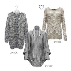 Fühle dich wohl und warm in unseren kuscheligen Strickpullovern und trendy Cardigans. Entdecke tolle neue Styles! @ www.mycolloseum.com/boutique.php?collection=Strick