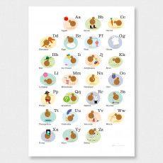 Alphabet Kiwi Art Print by Glenn Jones