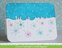 the Lawn Fawn blog: Beautiful Let it Snow Card by Nichol