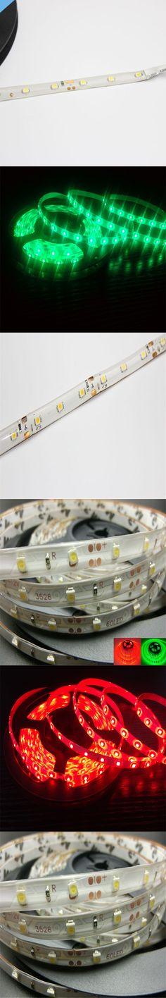 Free ship Waterproof Led strip 5m/rolls 3528SMD dc12V Tape Light flexible light 60led/m ,white/warm white/blue/green/red/yellow