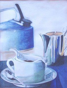 Tè blu  1997 (14,7 x 19 watercolor on paper) https://www.facebook.com/Riflessi-e-trasparenze-di-Germana-Galdi-152645784768295/