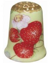 Strawberry Chintz Thimble