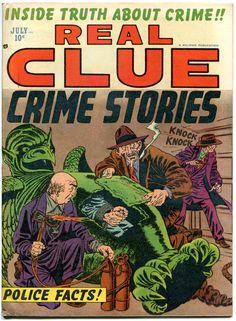 REAL CLUE CRIME STORIES V7 #5, FN, 1952, Golden Age, Pre-code, more in store Comic Book Plus, Comic Books, Crime Comics, Pre Code, Story Writer, Golden Age, Cartoon Art, Coding, Store