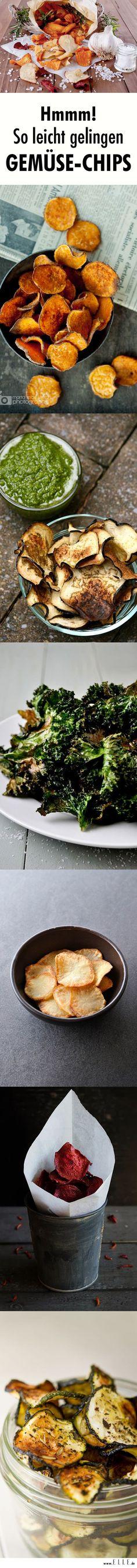 Gemüsechips sind eine gesunde Alternative zu Kartoffelchips aus dem Supermarkt. Wir zeigen, wie man die gesunden Knabbereien selbst macht.: