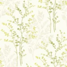 A beautiful floral wallpaper in green,beige and cream, featuring a delicate fern motif for a great look. Available from Go Wallpaper UK. Vinyl Wallpaper, Plum Wallpaper, Bedroom Wallpaper, Wallpaper Ideas, Purple Kitchen Wallpaper, Painted Wallpaper, Feature Wallpaper, Wallpaper Designs, Wallpaper Decor