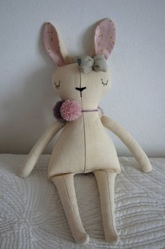 Rabbit Handmade Doll stuffed toy plush rabbit stuffed