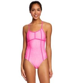Speedo Missy Franklin Endurance Lite Reptile Style Tie Back One Piece Swimsuit