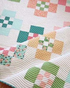 simple wavy line quilting