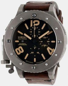 53e386afd online shopping for U-Boat Men's 6475 Analog Display Swiss Automatic Brown  Watch from top store. See new offer for U-Boat Men's 6475 Analog Display  Swiss ...
