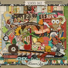 School Daze by ForeverJoy Designs (Awesome Back to School kit to scrap those first day photos!)