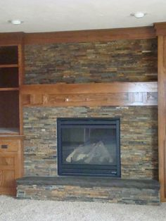 slate fireplace surround | On The Level Home Remodeling, LLC ...