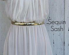 DIY Clothes DIY Refashion DIY Clothes Refashion: DIY Sequin Sash