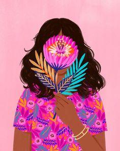 Pretty as a Flower 🌸 Illustrations, Graphic Illustration, Phoenix Artwork, Poster S, Mexican Art, Love Art, Art Inspo, Art Girl, New Art