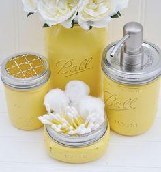 Grey Yellow Bathrooms on Pinterest | Gray Chevron Bathroom, Coral ...