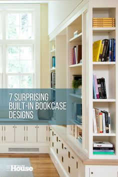 Get ideas to help you design and build built-in bookshelves to add more beautiful and functional storage to your room. #bookcase #storage Bookshelves Built In, Bookcase Storage, Built Ins, Home Library Design, House Design, Narrow Shelves, Building A House, Building Plans, Home Libraries