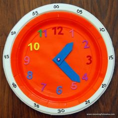 Telling the Time and Learning to Understand Time - For Kids - In The Playroom