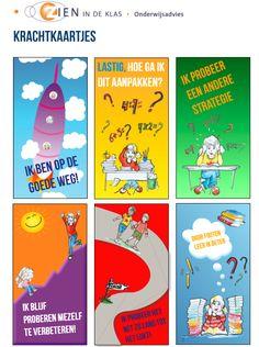 Krachtkaarten voor kinderen, ter ondersteuning van het leerproces. Growth Mindset Book, Visible Learning, Best Teacher Ever, Co Teaching, School Info, Leader In Me, 21st Century Skills, Blended Learning, Raising Kids