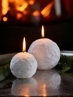 Add a festive glow to your home this Christmas with these gorgeous, limited edition, Swedish snowball candles.