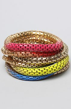 The Chain Link Stack Bracelet in Multi by *Accessories Boutique #MissKL #WinYourPin