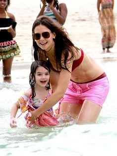 Katie Holmes with daughter Suri Cruise