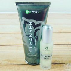 It Works Cleanser for $49.99 and It Works Exfoliating Peel for $42.99. | 19 Skincare Products That Will Actually Manage Your Oily Skin