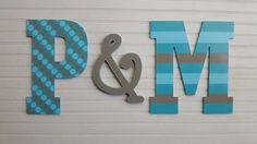Iniciales+para+pared++pared+Jumbo+letras++por+HappyMooseGardenArt