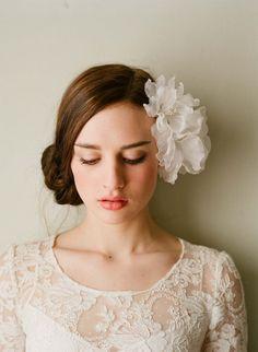 Bridal silk hair flowers  Double sheer silk organza by myrakim, $165.00