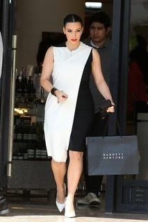 Cédric Charlier dress and Gianvito Rossi shoes