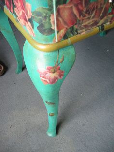 Decoupage furniture: detail by swamp dragon, via Flickr