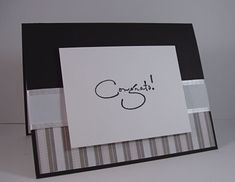 Clean and simple card suitable for graduation, wedding, retirement, etc., using product by Kaisercraft, Wordsworth and May Arts, available at The Stamp Simply Ribbon Store.
