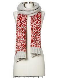 Reverse Fair Isle scarf..