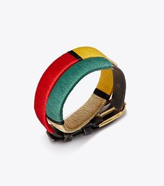 Visit Tory Burch to shop for Striped Double-wrap Bracelet  and more Womens Beach Getaway. Find designer shoes, handbags, clothing & more of this season's latest styles from designer Tory Burch.