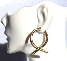 8 Gauge Gold Hoop Earrings by SilverSunStudio on Etsy