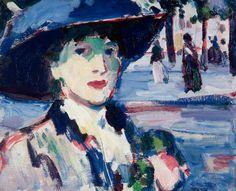 John Duncan Fergusson, Anne Estelle Rice in Paris (Closerie des lilas), 1907 Art Gallery, John Duncan, Your Paintings, Painting, Art, Fauvism, Art Uk, Scottish Art, Scottish Colourists