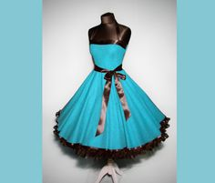 Petticoatkleider - Petticoat Kleid rockabilly 50er Jahre Mode - ein Designerstück von myrockabillymode bei DaWanda