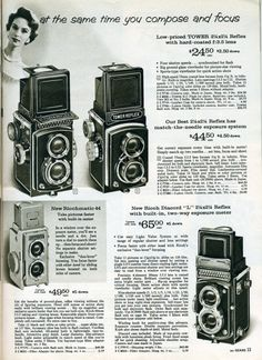 Sears Camera Catalogue, 1961