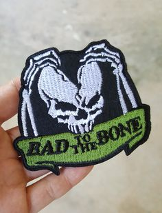 1003590028379 Bad To The Bone iron on patch