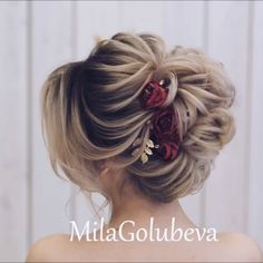 Up Hairstyles, Braided Hairstyles, Wedding Hairstyles, Hairstyle Ideas, Medium Hair Styles, Curly Hair Styles, Medium Length Hair Updos, Hair Upstyles, Updo Styles