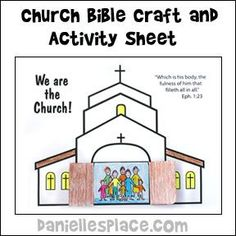 Church Coloring Page Bible school crafts Vacation bible school