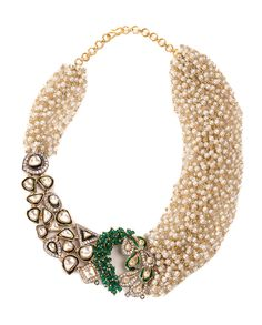 Flaunt your rich taste in accessories by wearing this pearl necklace studded with white crystals for stylish women from Jewel Couture. This attractively designed necklace is light in weight and will catch your attention in the very first glance. This exquisite piece of jewellery will go well with both casual and ethnic outfits.  #CostumeJewelry #Necklace #Crystals #style #fashion #trend #women #JewelCouture