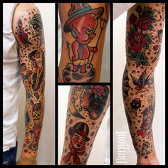 BURNOUT INK : Full Sleeve Traditional Style