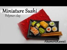 Miniature Sushi - Polymer Clay Tutorial - YouTube