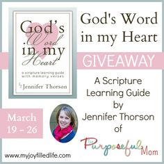 God's Word in my Heart eBook {Blog Birthday Giveaway} - My Joy-Filled Life